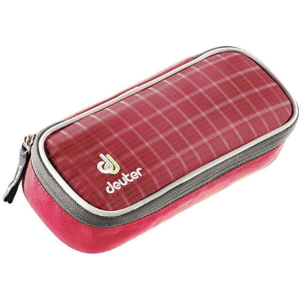 Deuter Schlampermäppchen Etui Pencil Case Raspberry Check