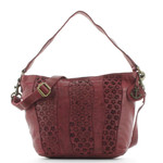 Harbour 2nd Beutel Shopper Solvej Blumen Leder Red