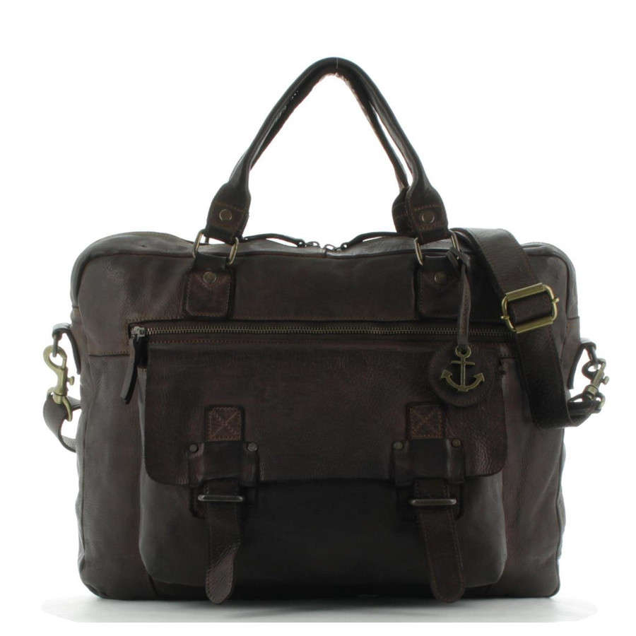 Harbour 2nd Messenger Umhängetasche Laptoptasche Leder