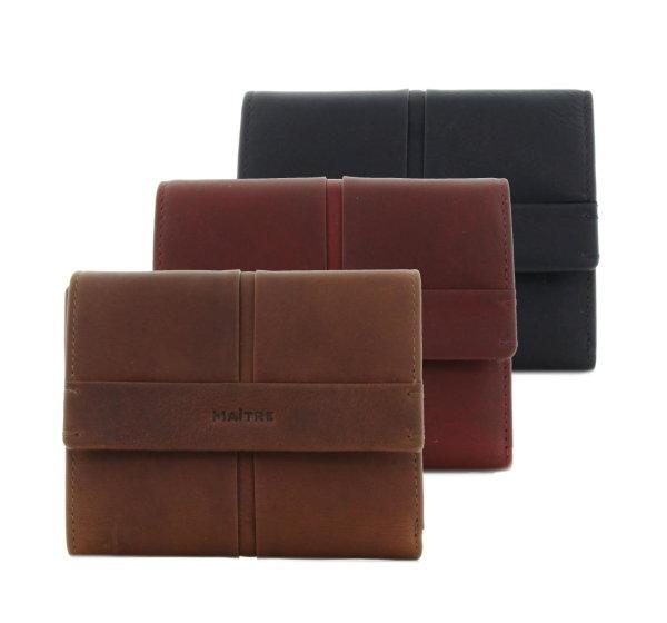 f62a08a4c56d6 Maitre Damen Geldbörse Portemonnaie mit Überschlag Leder