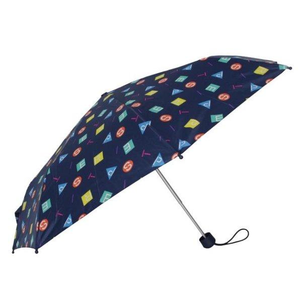 ESPRIT Regenschirm Taschenschirm Metallic Stars schwarz Sterne Damen