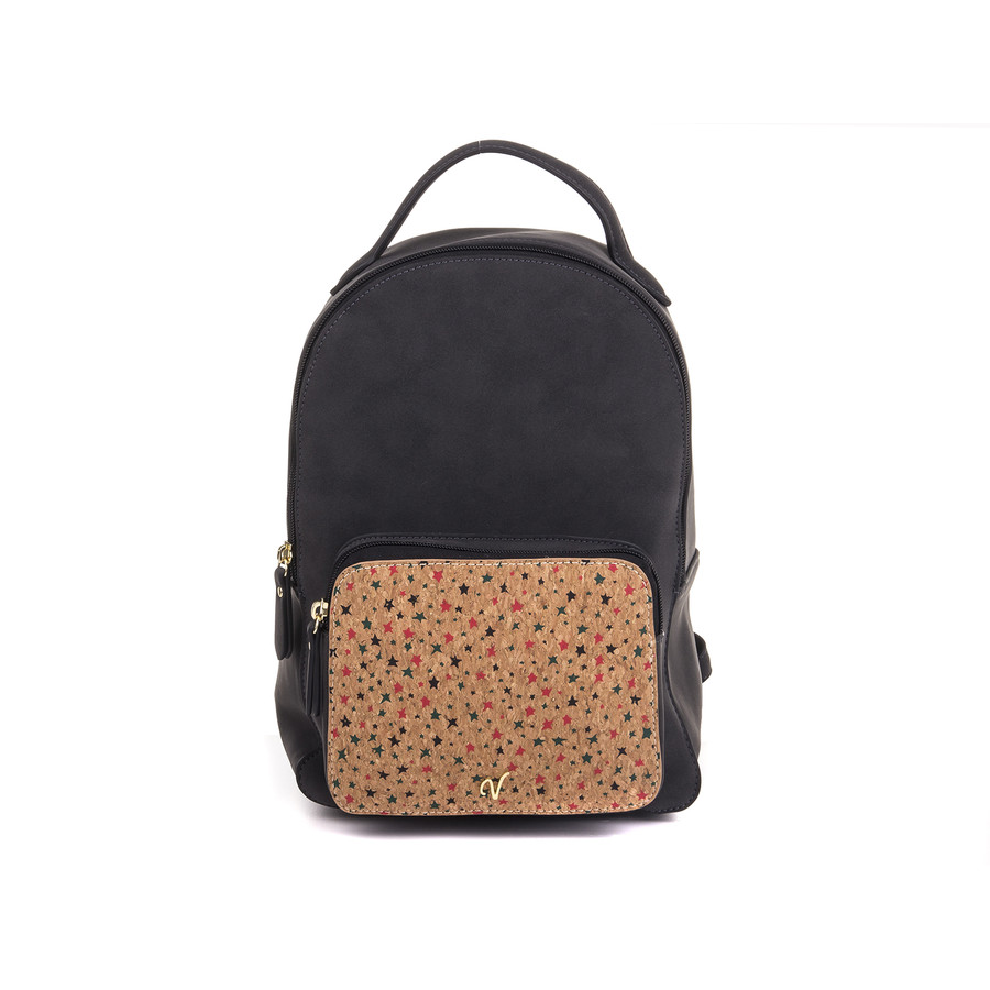 Vleder Bag JASMIN Backpack Rucksack Kork GZSZ star