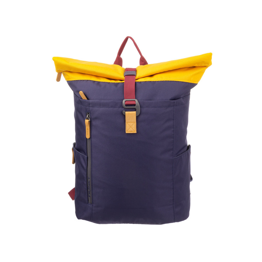 Franky Businessrucksack RS49-DC-dark blue/yellow